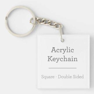 Porte - clé carré personnalisé porte-clé carré en acrylique double face
