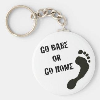 Porte - clé courant aux pieds nus porte-clés