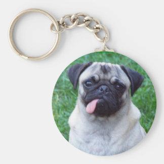Porte - clé d'amour de carlin porte-clés
