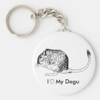Porte - clé d'amour de Degu Porte-clés