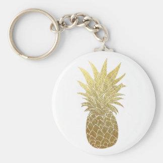Porte - clé d'ananas d'or porte-clés