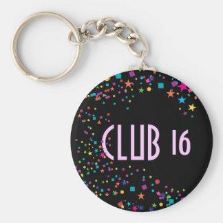 Porte - clé de cadeau de club du bonbon 16 à porte-clés