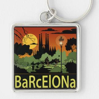 """Porte - clé de carré de prime de Barcelone (2,00"""") Porte-clés"""