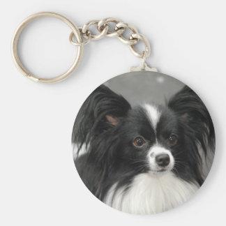 Porte - clé de chien de Papillon Porte-clés