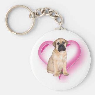 Porte - clé de chiot de Bullmastiff d'amour Porte-clé Rond