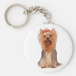 Porte - clé de chiot de Yorkshire Terrier Porte-clé Rond
