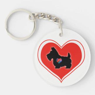 Porte - clé de coeur d'amour de Scottie Porte-clés