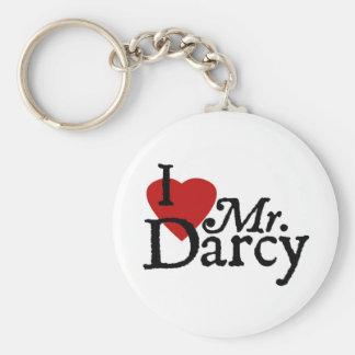 Porte - clé de Darcy de coeur de Jane Austen Porte-clé Rond