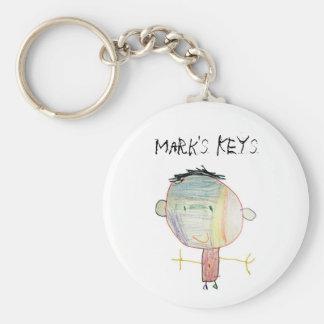 Porte - clé de dessin d'enfant porte-clé rond