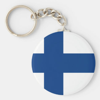 Porte - clé de drapeau de la Finlande Porte-clés