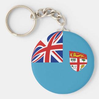 Porte - clé de drapeau des Fidji Fisheye Porte-clés