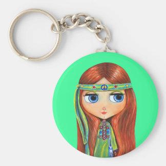 Porte - clé de hippie de paix porte-clés