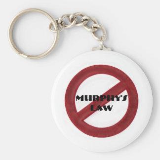 Porte - clé de la loi de Murphy d'abrogation Porte-clé Rond