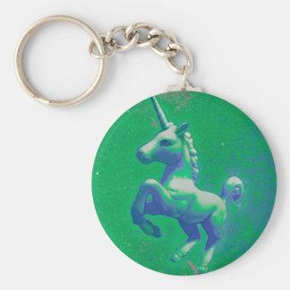 Porte - clé de licorne (rougeoyant vert) porte-clés