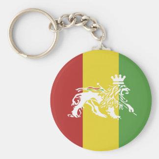 Porte - clé de lion de Rasta Porte-clé Rond