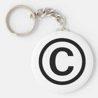 Porte - clé de logo de Copyright (noir) Porte-clés