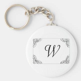 Porte - clé de monogramme porte-clé rond