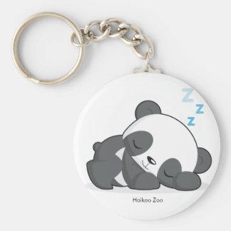 Porte - clé de panda de sommeil porte-clé rond