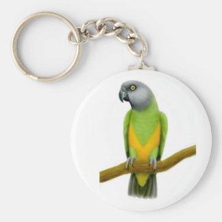 Porte - clé de perroquet du Sénégal Porte-clé Rond