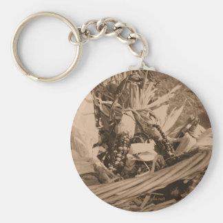 Porte - clé de photo de fleur de maïs de sépia porte-clés