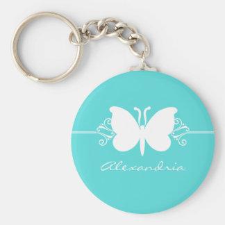 Porte - clé de remous de papillon de turquoise porte-clés
