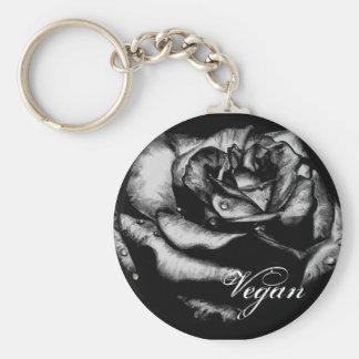 Porte - clé de rose de noir porte-clés