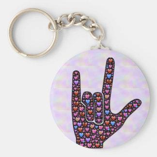 Porte - clé de signe de main d'amour porte-clés