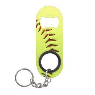 Porte-clé Décapsuleur Boule jaune du base-ball