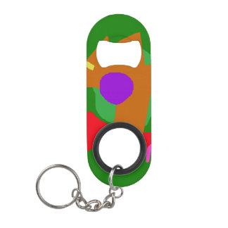 Porte-clé Décapsuleur Lion abstrait