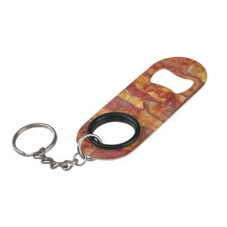 Porte-clé Décapsuleur Motif d'arrière - plan de lard