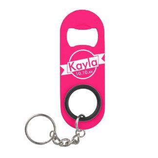 Porte-clé Décapsuleur Ouvreur de bouteille rose de demoiselle d'honneur