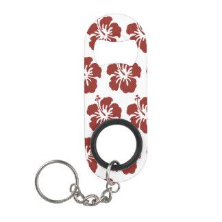 Porte-clé Décapsuleur Ouvreur de bouteille tropical de fleur de ketmie