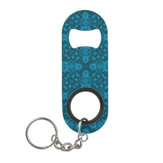 Porte-clé Décapsuleur Ouvreurs de bouteille noirs et    bleus de