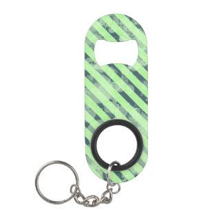 Porte-clé Décapsuleur Rayure verte