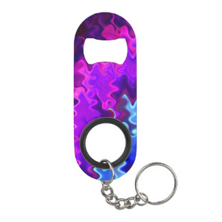 Porte-clé Décapsuleur Tempête bleue et pourpre assez onduleuse