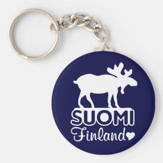 Porte - clé d'orignaux de la Finlande Porte-clés