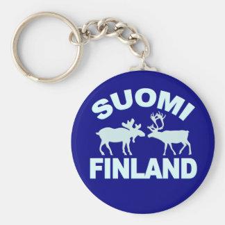 Porte - clé d'orignaux et de renne de la Finlande Porte-clés