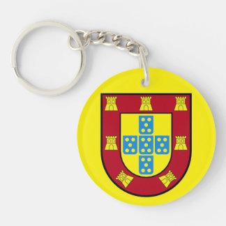 Porte - clé (double face) de cercle du Portugal Porte-clé Rond En Acrylique Double Face