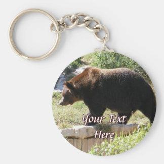 Porte - clé d'ours gris porte-clés