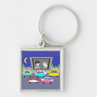 Porte - clé drive-in de film de petite ville porte-clés