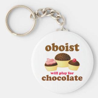 Porte - clé drôle de hautbois de chocolat porte-clés