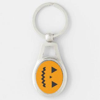 Porte - clé en métal de Jack O'Lantern Porte-clé Ovale Argenté