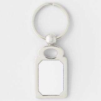 Porte - clé fait sur commande de rectangle porte-clé rectangulaire argenté