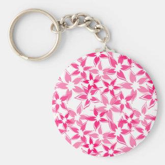 Porte - clé floral mignon porte-clé rond