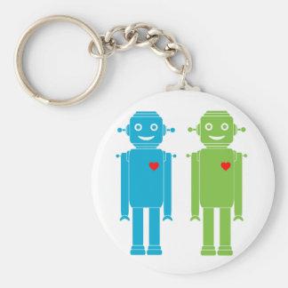 Porte - clé gai de robots de LGBT Porte-clé Rond