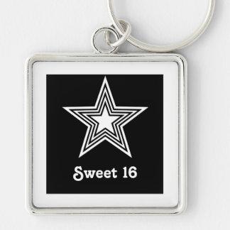 Porte - clé génial du bonbon 16 à étoile, noir et porte-clés