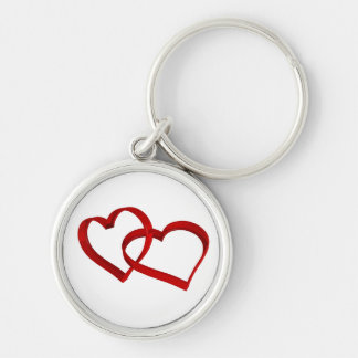 Porte - clé lié de coeurs porte-clés