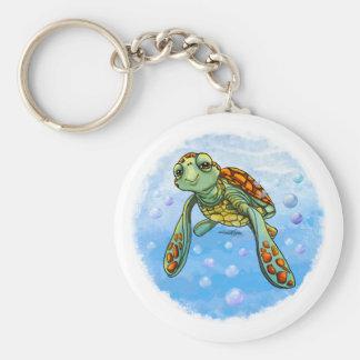 Porte - clé mignon de tortue de mer porte-clé rond
