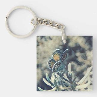 Porte - clé Painterly de papillon Porte-clés