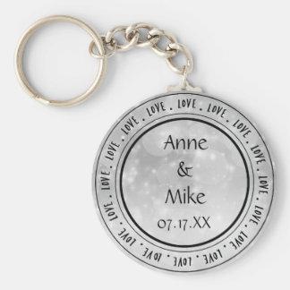 Porte - clé personnalisé par amour argenté porte-clé rond